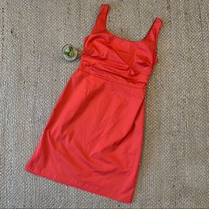 Elie Tahari Coral Red Pink Sheath Dress